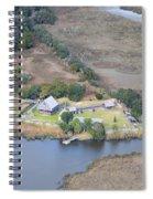 Aerial Jekyll Island Area Spiral Notebook