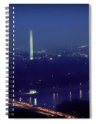 Aerial Night View Of Washington Dc Spiral Notebook