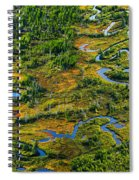 Aerial Of A Wetland, Over Northern Spiral Notebook