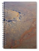 Aerial Of Meteor Crater Spiral Notebook