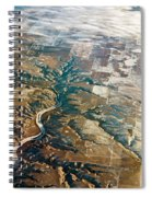 Aerial Of Rocky Mountains Over Montana State Spiral Notebook