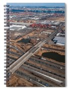 Aerial Over Newark Spiral Notebook