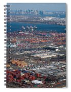 Aerial Over Newark And New Yourk Spiral Notebook