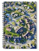 Aerial Pattern Of Residential Homes Spiral Notebook