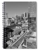 Aerial Photography Downtown Nashville Spiral Notebook