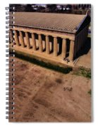 Aerial Photography Of The Parthenon Spiral Notebook