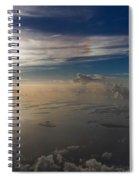 Aerial Sunrise Over Florida Keys Spiral Notebook
