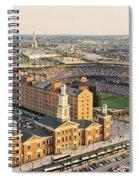 Aerial View Of A Baseball Stadium Spiral Notebook
