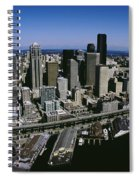 Aerial View Of A City, Seattle Spiral Notebook