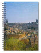 Aerial View Of A City, Toledo, Spain Spiral Notebook