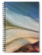 Aerial  View Of An Antarctica Glacier Flow Spiral Notebook