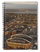 Aerial View Of Bellevue Skyline And Century Link  Spiral Notebook