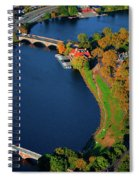 Aerial View Of Charles River With Views Spiral Notebook
