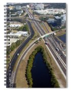 Aerial View Of City Of Tampa Spiral Notebook