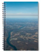 Aerial View Of Earth In Usa Spiral Notebook