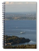 Aerial View Of Ferry Boats On Puget Sound Leaving Bainbridge Isl Spiral Notebook