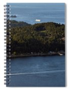 Aerial View Of Ferry Boats On Puget Sound One Leaving Bainbridge Spiral Notebook