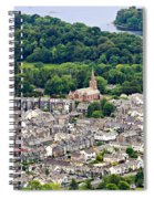 Aerial View Of Keswick In The Lake District Cumbria Spiral Notebook