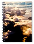 Aerial View Of Pacific Coast Of Bc Canada Spiral Notebook