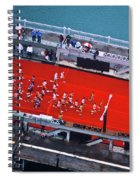 Aerial View Of People Running Spiral Notebook
