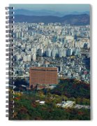 Aerial View Of Seoul South Korea Spiral Notebook