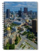 Aerial View Of Skyline And Georgia Spiral Notebook