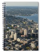 Aerial View Of Space Needle And Lake Union Spiral Notebook