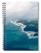Aerial View Of Tasman Sea Shore Nz North Island Spiral Notebook
