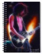 Aerosmith-joe-94-gb26a-fractal Spiral Notebook