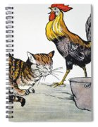Aesop: Cat, Cock, And Mouse Spiral Notebook