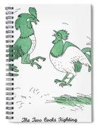 Aesop: Cocks Fighting Spiral Notebook