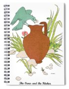 Aesop: Crow & Pitcher Spiral Notebook
