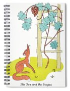 Aesop: Fox And Grapes Spiral Notebook
