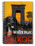 Afghan Hound Art - Luxor Poster Spiral Notebook