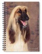 Afghan Hound Dog, Portrait Spiral Notebook