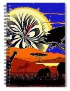 Africa At Sunset  Spiral Notebook