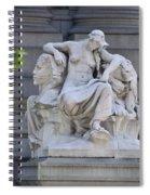 Africa Statue - New York City Spiral Notebook