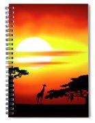 Africa Sunset Spiral Notebook