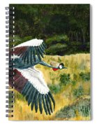 African Crowned Crane Painting Spiral Notebook