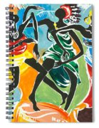 African Dancers No. 3 Spiral Notebook