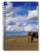 African Elephant Walking Masai Mara Spiral Notebook