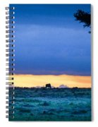 African Panoramic Sunset Landscape Spiral Notebook
