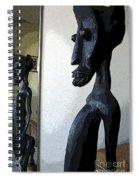 African Statue Reflection Spiral Notebook