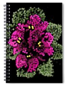 African Violets Bedazzled Spiral Notebook