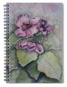 African Violets Spiral Notebook