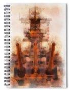 Aft Turret 3 Sun Down Uss Iowa Battleship Photo Art 01 Spiral Notebook