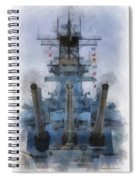 Aft Turret 3 Uss Iowa Battleship Photoart 01 Spiral Notebook