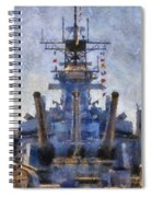 Aft Turret 3 Uss Iowa Battleship Photoart 02 Spiral Notebook