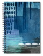 After Rain- Contemporary Abstract Painting  Spiral Notebook