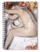 After The Bath Woman Drying Herself Spiral Notebook